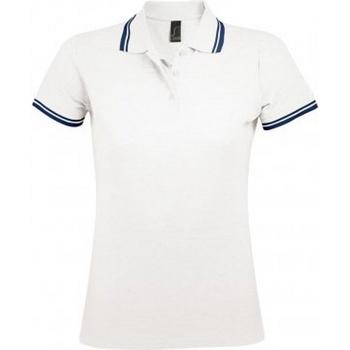 Vêtements Femme Polos manches courtes Sols Pasadena Blanc/bleu marine