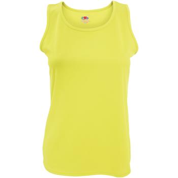 Vêtements Femme Débardeurs / T-shirts sans manche Fruit Of The Loom Performance Jaune vif