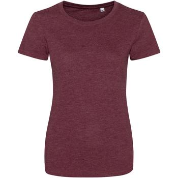 Vêtements Femme T-shirts manches courtes Awdis Girlie Bordeaux chiné