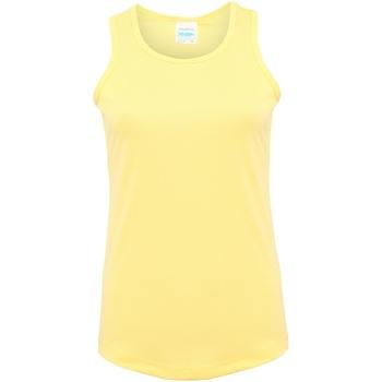 Vêtements Femme Débardeurs / T-shirts sans manche Just Cool Girlie Citron