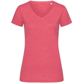 Vêtements Femme T-shirts manches courtes Stedman Stars  Cerise chiné