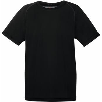 Vêtements Enfant T-shirts manches courtes Fruit Of The Loom Performance Noir
