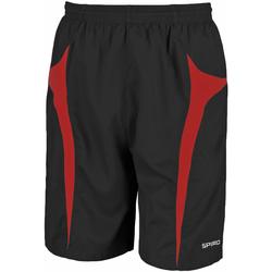 Vêtements Homme Shorts / Bermudas Spiro S184X Noir/Rouge