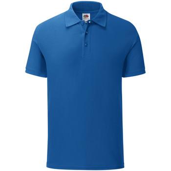 Vêtements Homme Polos manches courtes Fruit Of The Loom Iconic Bleu roi