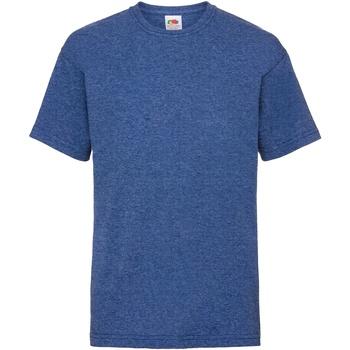 Vêtements Enfant T-shirts manches courtes Fruit Of The Loom 61033 Bleu roi rétro chiné