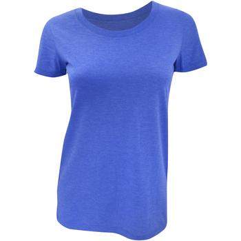 Vêtements Femme T-shirts manches courtes Bella + Canvas Triblend Bleu roi