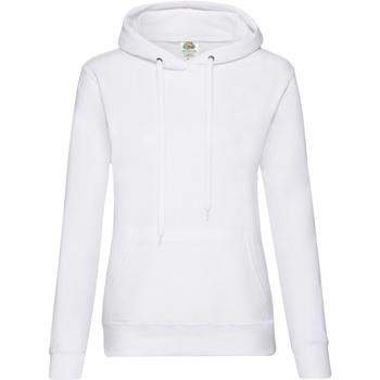 Vêtements Femme Sweats Fruit Of The Loom Hooded Blanc