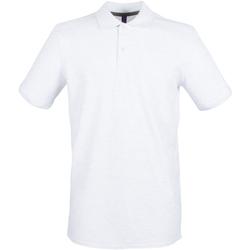 Vêtements Homme Polos manches courtes Henbury HB101 Blanc chiné