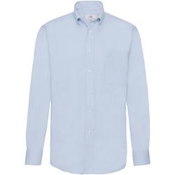 Vêtements Homme Chemises manches longues Fruit Of The Loom Oxford Bleu clair
