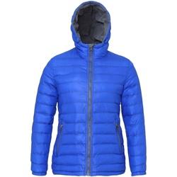 Vêtements Femme Doudounes 2786 Hooded Bleu roi/Gris