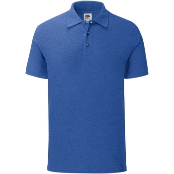 Vêtements Homme Polos manches courtes Fruit Of The Loom Iconic Bleu roi chiné