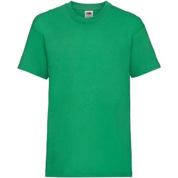 Vêtements Enfant T-shirts manches courtes Fruit Of The Loom 61033 Vert tendre
