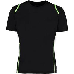 Vêtements Homme T-shirts manches courtes Gamegear Cooltex Noir/Vert citron fluorescent