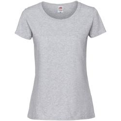 Vêtements Femme T-shirts manches courtes Fruit Of The Loom Premium Gris cendré