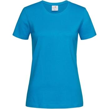 Vêtements Femme T-shirts manches courtes Stedman Classics Turquoise