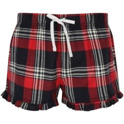 Vêtements Femme Shorts / Bermudas Skinni Fit Tartan Rouge/ Bleu maine careaux