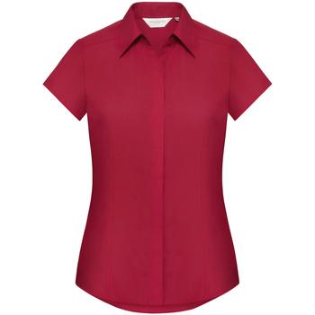 Vêtements Femme Chemises / Chemisiers Russell Chemise à Manches Courtes mancherons BC1019 Rouge