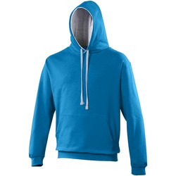 Vêtements Sweats Awdis Hooded Bleu saphir / gris chiné