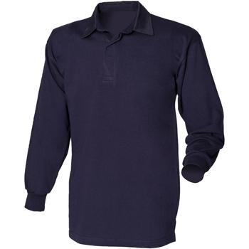 Vêtements Homme Polos manches longues Front Row Rugby Bleu marine/Bleu marine