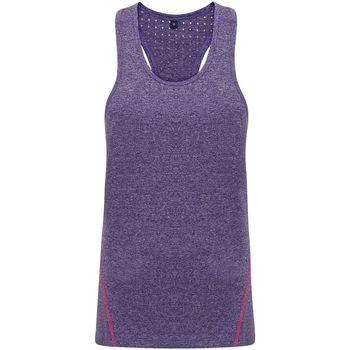 Vêtements Femme Débardeurs / T-shirts sans manche Tridri TR041 Violet chiné