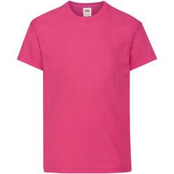 Vêtements Enfant T-shirts manches courtes Fruit Of The Loom Original Fuchsia