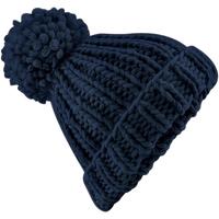 Accessoires textile Bonnets Beechfield Knitted Bleu marine