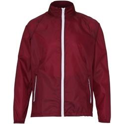Vêtements Homme Coupes vent 2786 TS011 Bordeaux/Blanc