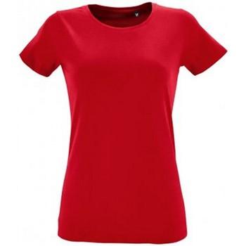 Vêtements Femme T-shirts manches courtes Sols Regent Rouge