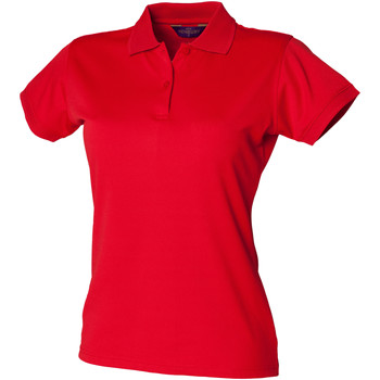 Vêtements Femme Polos manches courtes Henbury Coolplus Rouge classique