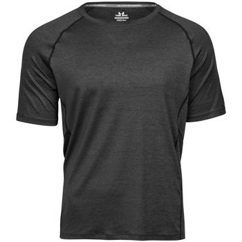 Vêtements Homme T-shirts manches courtes Tee Jays Cool Dry Noir chiné