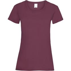 Vêtements Femme T-shirts manches courtes Universal Textiles 61372 Rouge sang