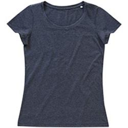 Vêtements Femme T-shirts manches courtes Stedman Stars Lisa Gris foncé chiné