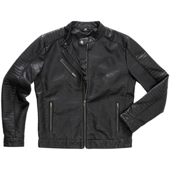 Vêtements Homme Vestes en cuir / synthétiques Stedman Biker Noir