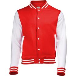 Vêtements Blousons Awdis Varsity Rouge feu/Blanc