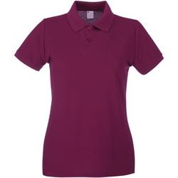 Vêtements Femme Polos manches courtes Universal Textiles 63030 Rouge sang