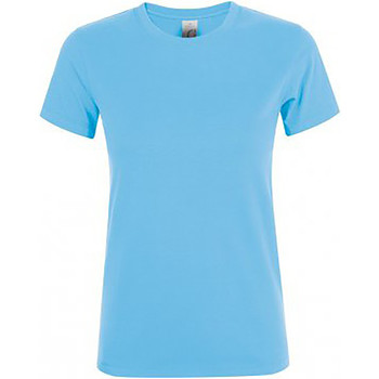 Vêtements Femme T-shirts manches courtes Sols Regent Bleu ciel
