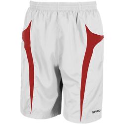 Vêtements Homme Shorts / Bermudas Spiro S184X Blanc/Rouge