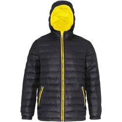 Vêtements Homme Doudounes 2786 Hooded Noir/ Jaune