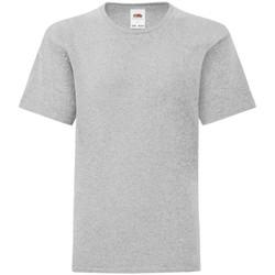 Vêtements Garçon T-shirts manches courtes Fruit Of The Loom Iconic Gris chiné