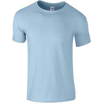 Vêtements Homme T-shirts manches courtes Gildan Soft-Style Bleu clair