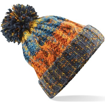 Accessoires textile Bonnets Beechfield Pom Pom Bleu rétro