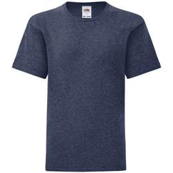 Vêtements Enfant T-shirts manches courtes Fruit Of The Loom Iconic Bleu marine chiné