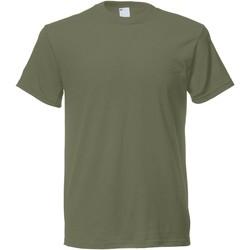 Vêtements Homme T-shirts manches courtes Universal Textiles Casual Vert olive