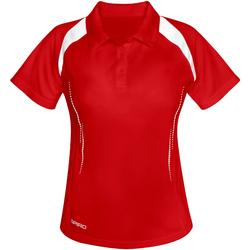Vêtements Femme Polos manches courtes Spiro Performance Rouge/Blanc