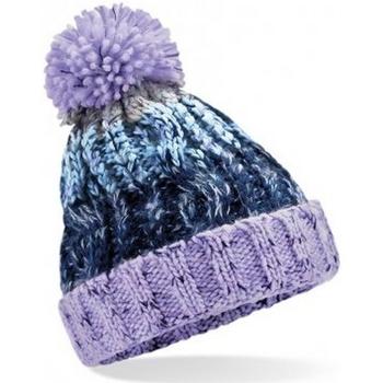 Accessoires textile Enfant Bonnets Beechfield Pom Pom Violet