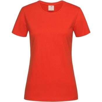 Vêtements Femme T-shirts manches courtes Stedman Classics Orange vif