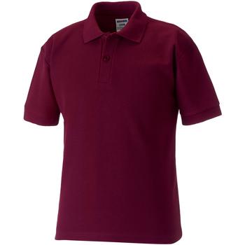 Vêtements Enfant Polos manches courtes Jerzees Schoolgear 65/35 Bordeaux