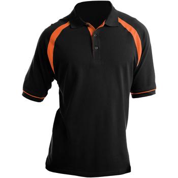 Vêtements Homme Polos manches courtes Kustom Kit KK615 Noir/Orange