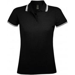 Vêtements Femme Polos manches courtes Sols Pasadena Noir/blanc
