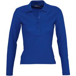 Vêtements Femme Polos manches longues Sols Podium Bleu roi